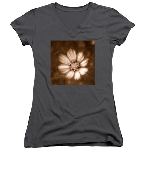 Silent Petals Women's V-Neck T-Shirt