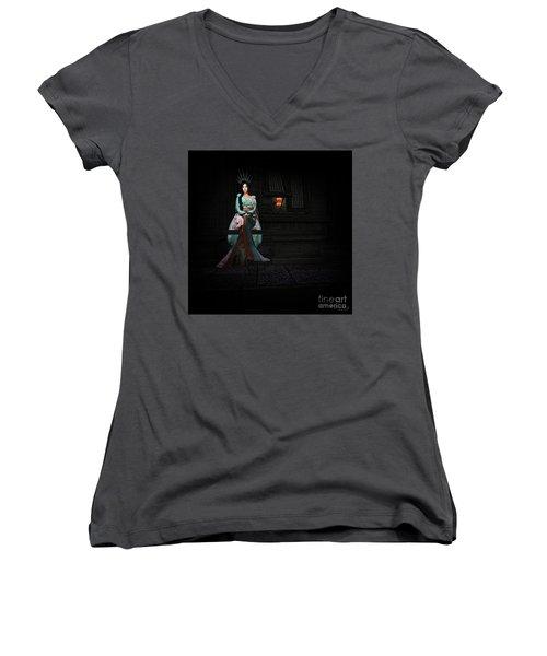 Silks And Parasols 3 Women's V-Neck T-Shirt