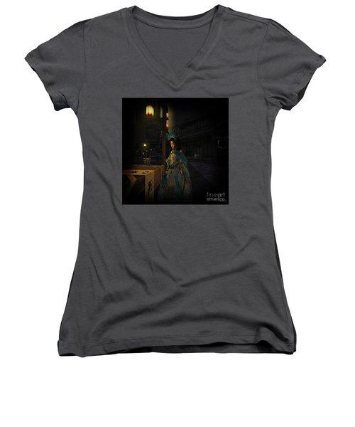 Silks And Parasols 5 Women's V-Neck T-Shirt
