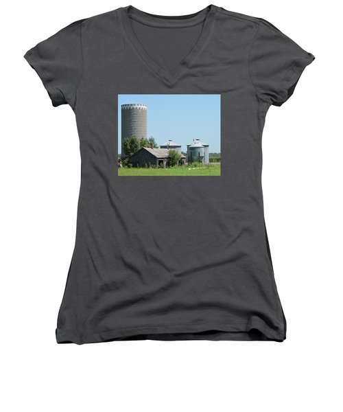 Silo And Bins Women's V-Neck (Athletic Fit)