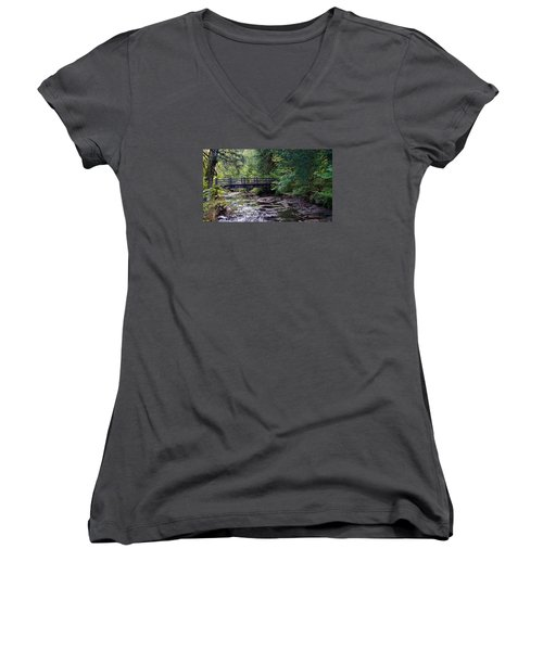 Silver Creek Falls #38 Women's V-Neck