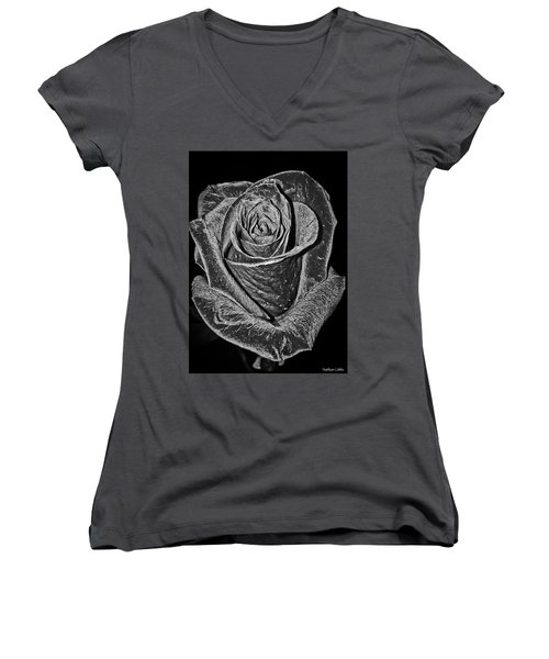 Silver Rose Women's V-Neck (Athletic Fit)