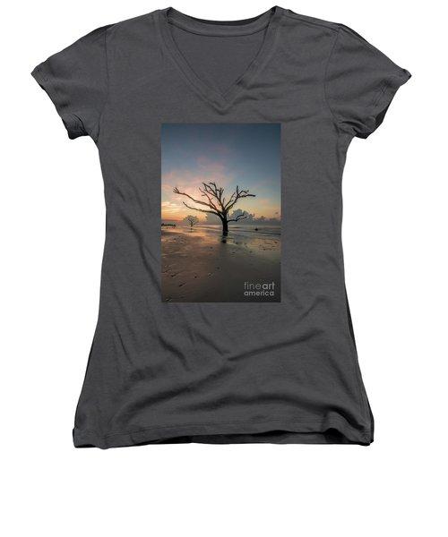 Silvia's Tree Women's V-Neck T-Shirt (Junior Cut) by Robert Loe
