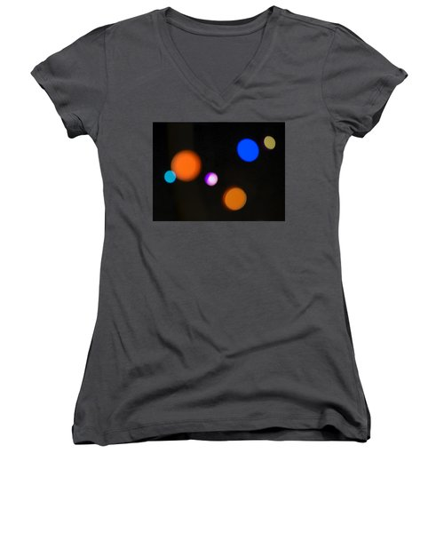 Simple Circles Women's V-Neck T-Shirt (Junior Cut) by Susan Stone
