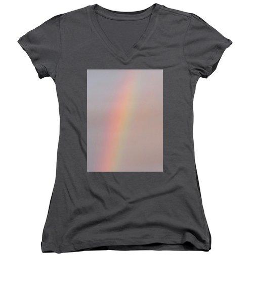 Simple Desert Rainbow Women's V-Neck T-Shirt