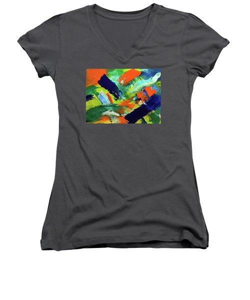 Simple Things Women's V-Neck T-Shirt (Junior Cut) by Everette McMahan jr