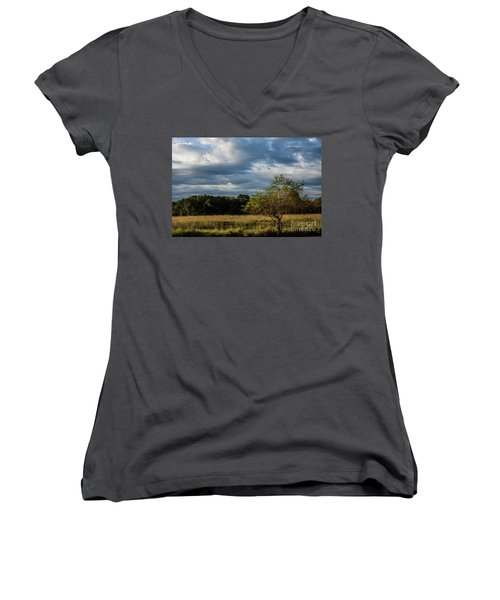 Women's V-Neck T-Shirt (Junior Cut) featuring the photograph Simplicity by Iris Greenwell