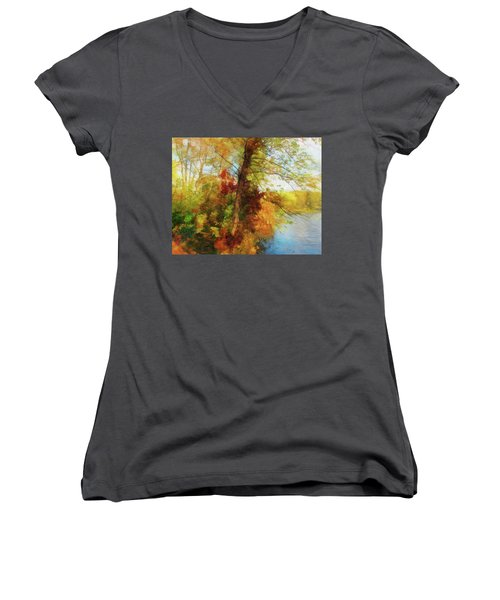 Simply Autumn Women's V-Neck (Athletic Fit)