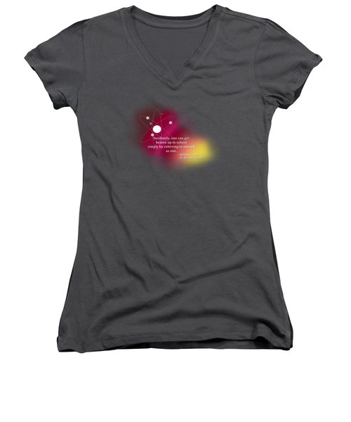 Simply Referring To Oneself As One Women's V-Neck T-Shirt (Junior Cut) by Paulette B Wright