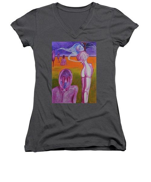 Sirens Women's V-Neck T-Shirt