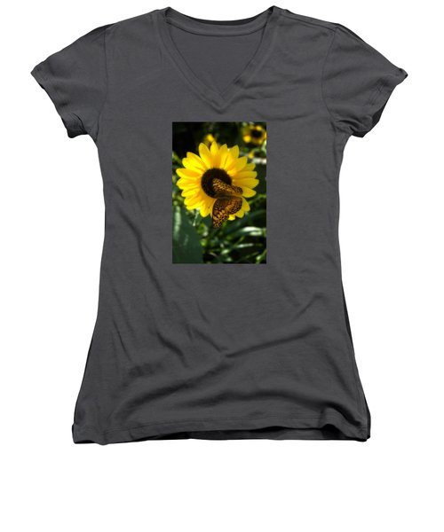 Sitting On The Sun Women's V-Neck (Athletic Fit)