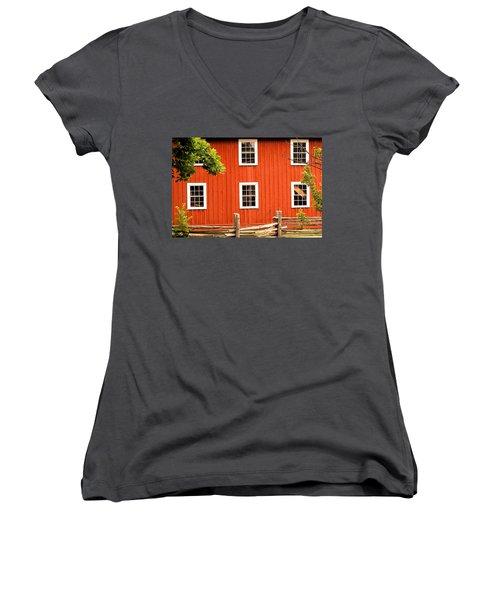Six Windows Women's V-Neck T-Shirt (Junior Cut) by Ian  MacDonald