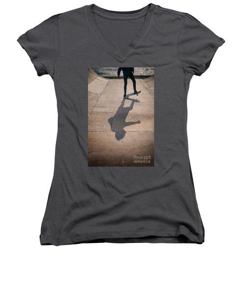 Skater Boy 002 Women's V-Neck