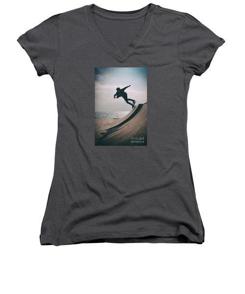 Skater Boy 007 Women's V-Neck