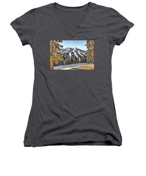 Ski Runs Women's V-Neck T-Shirt