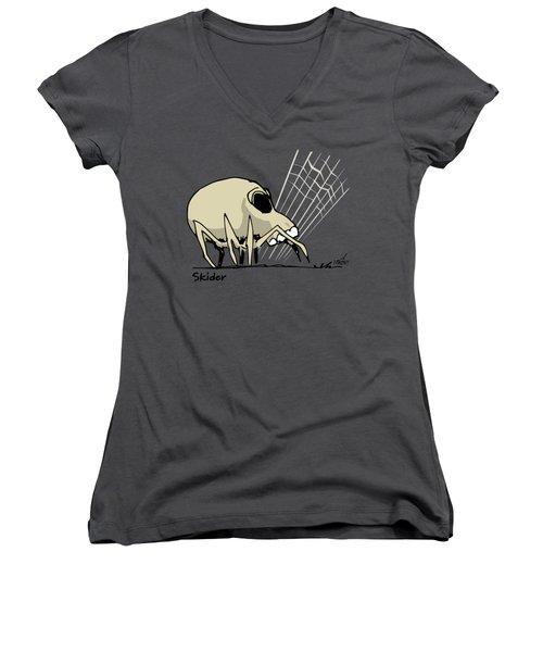 Skider Women's V-Neck T-Shirt