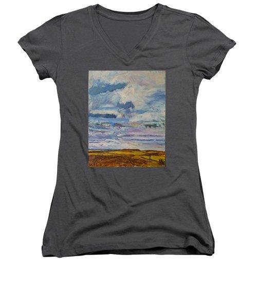Plain Glories Women's V-Neck T-Shirt (Junior Cut) by Helen Campbell