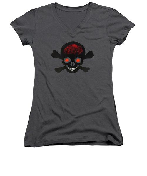 Skull And Bones Women's V-Neck