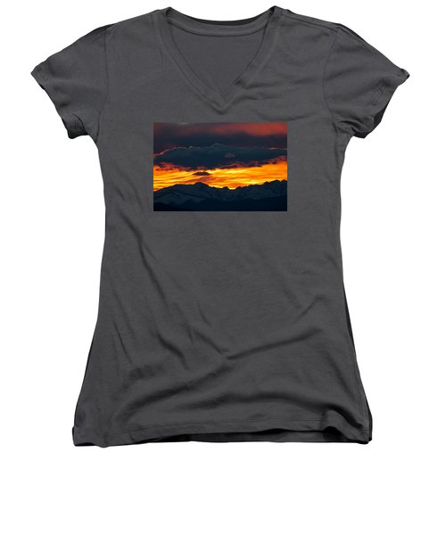Sky Lava Women's V-Neck T-Shirt (Junior Cut) by Colleen Coccia