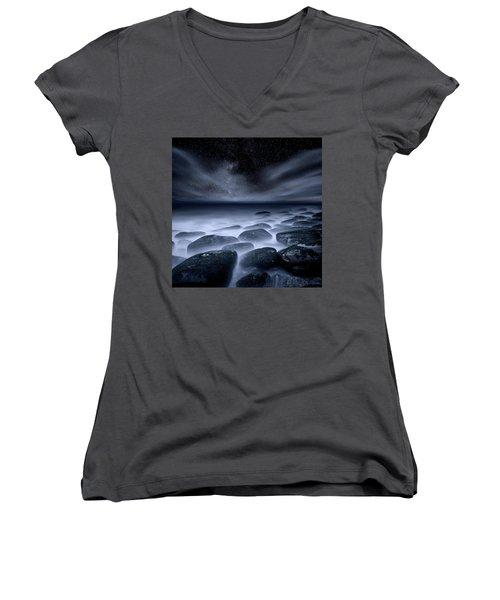 Women's V-Neck T-Shirt (Junior Cut) featuring the photograph Sky Spirits by Jorge Maia