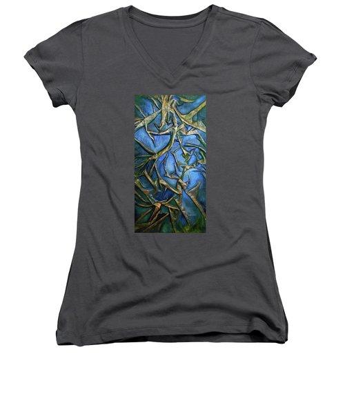 Sky Through The Trees Women's V-Neck T-Shirt (Junior Cut)