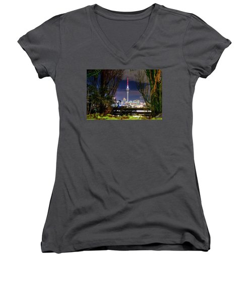 Sky Tower Women's V-Neck (Athletic Fit)