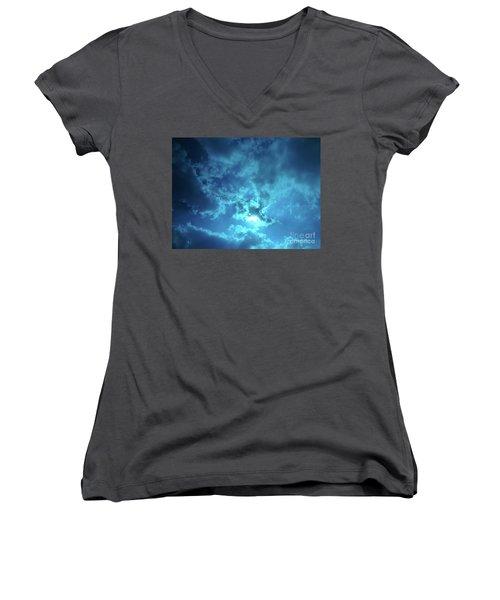 Skybreak Women's V-Neck T-Shirt (Junior Cut) by Gem S Visionary