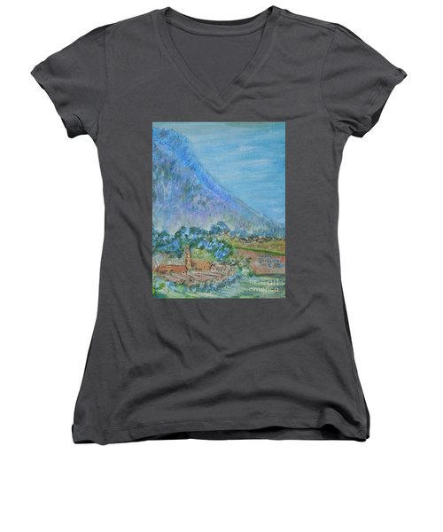 Skyline Drive Begins Women's V-Neck T-Shirt