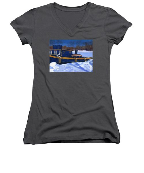 Sleeping Barge Women's V-Neck