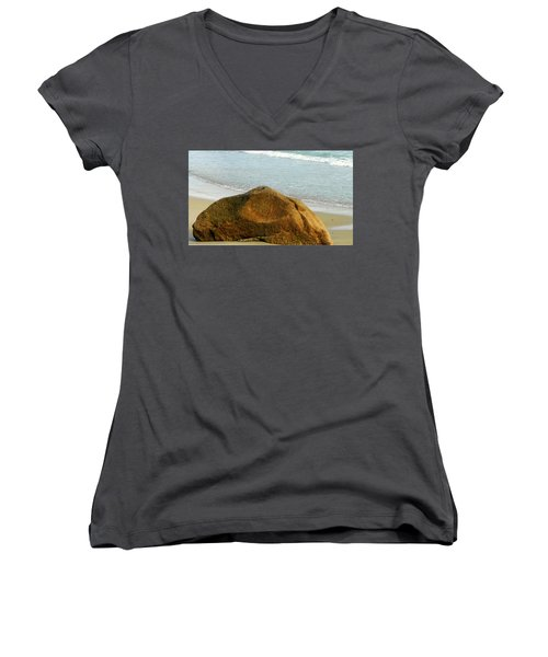 Sleeping Giant At Marthas Vineyard Women's V-Neck (Athletic Fit)