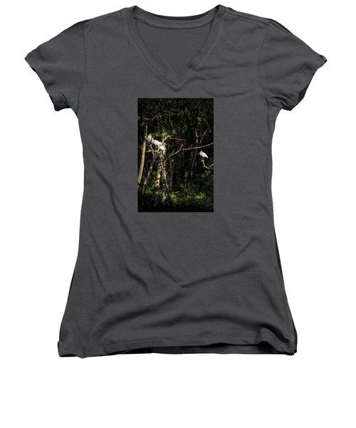Sleeping Quarters Women's V-Neck T-Shirt