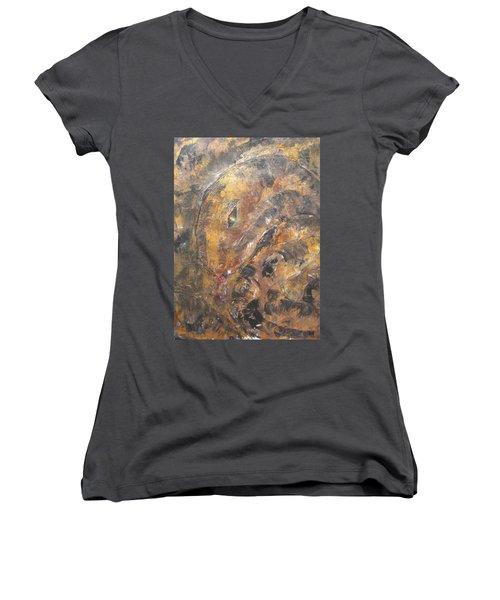 Slither Women's V-Neck T-Shirt (Junior Cut) by Maria Watt