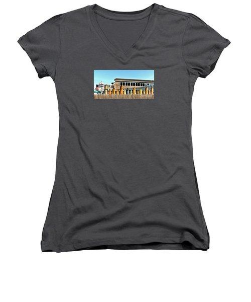 Sloppy Tuna Restaurant, Montauk Long Island Women's V-Neck T-Shirt