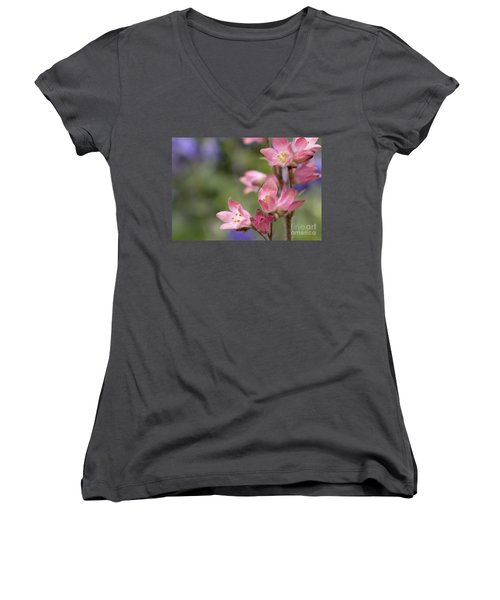 Small Flowers Women's V-Neck (Athletic Fit)