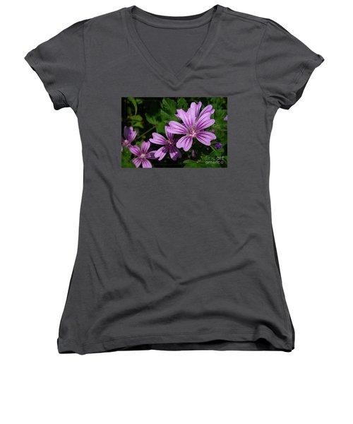 Small Mauve Flowers 6 Women's V-Neck