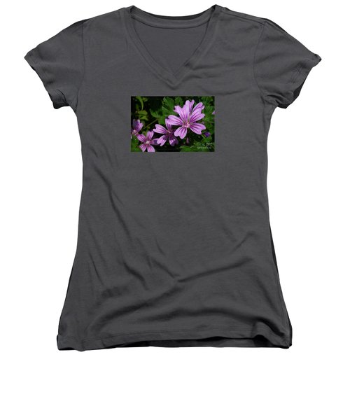 Small Mauve Flowers 6 Women's V-Neck
