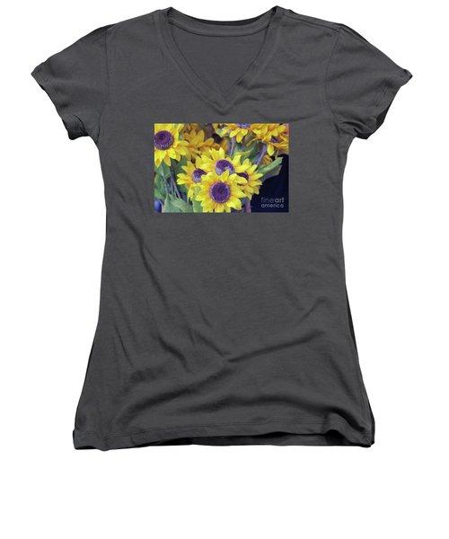 Smile  Women's V-Neck T-Shirt