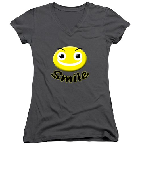 Smile T-shirt Women's V-Neck (Athletic Fit)