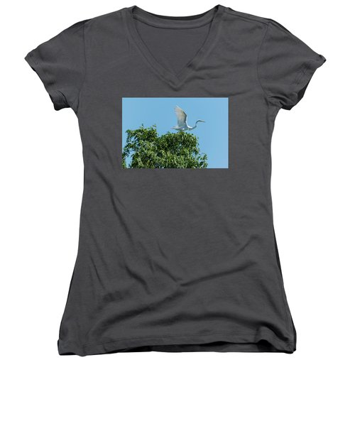 Women's V-Neck T-Shirt (Junior Cut) featuring the photograph Smith Creek by Steven Richman