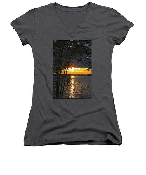 Smith Mountain Lake Summer Sunet Women's V-Neck