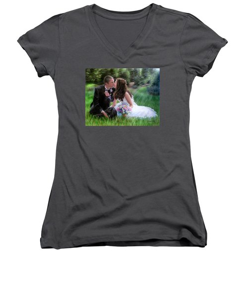 Smith Wedding Portrait Women's V-Neck