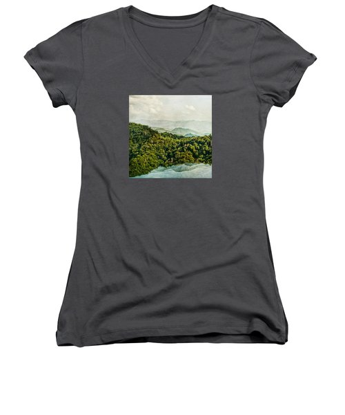 Smoky Mountain Reflections Women's V-Neck