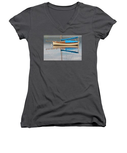 Women's V-Neck T-Shirt (Junior Cut) featuring the photograph Smooth Sailing by Werner Padarin