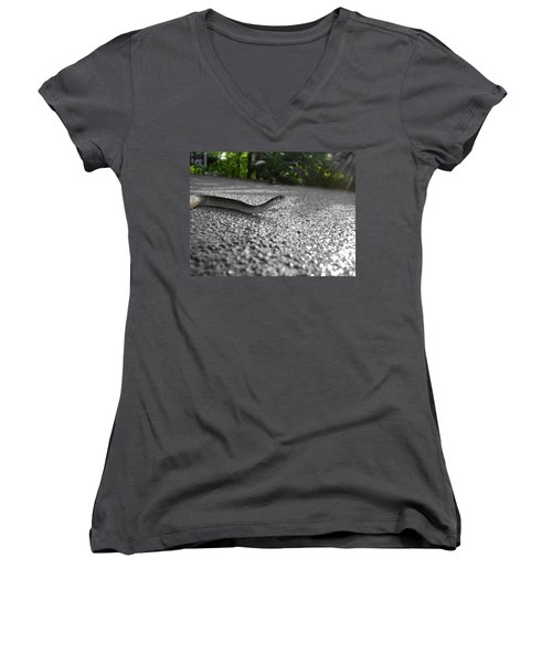 Snake In The Sun Women's V-Neck