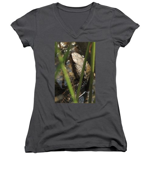 Snake In The Water Women's V-Neck (Athletic Fit)