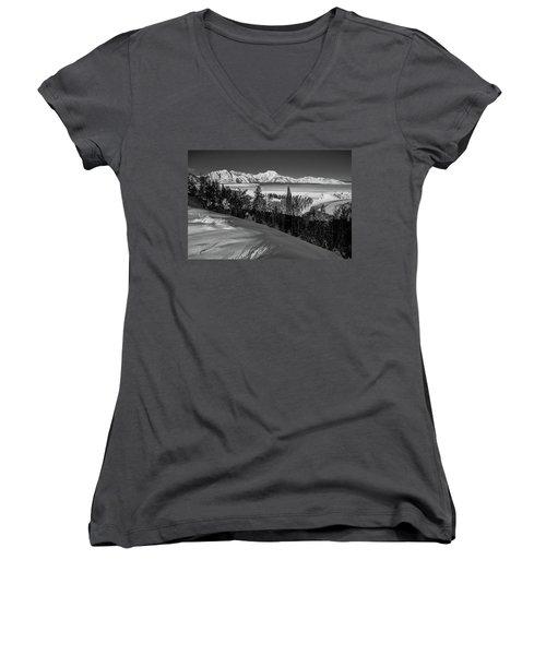 Snake River Overlook-winter Scene 79 Women's V-Neck T-Shirt