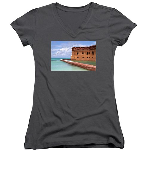 Snorkelers Fort Jefferson Women's V-Neck T-Shirt
