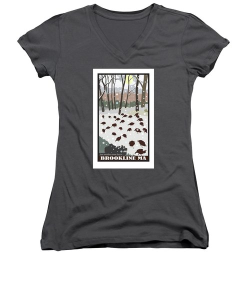 Snow Day Women's V-Neck