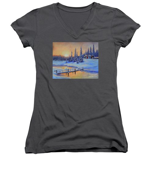 Snow Home Women's V-Neck (Athletic Fit)