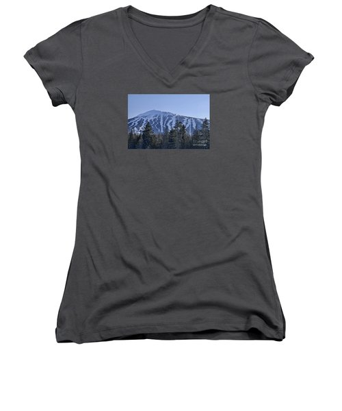 Snow On The Loaf Women's V-Neck T-Shirt (Junior Cut) by Alana Ranney